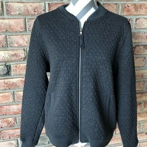 Gap bomber style jacket in charcoal gray